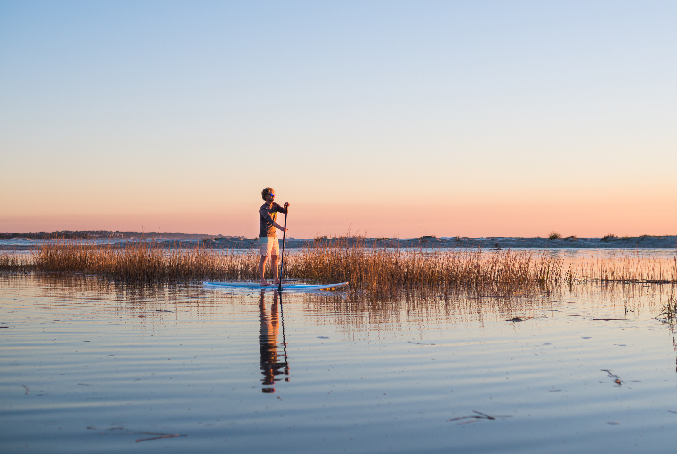 St Simons Island Paddle Boarding Sunset